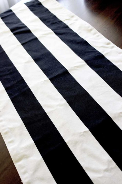 Event prop hire black and white striped table runners_Event_Styling_Sydney