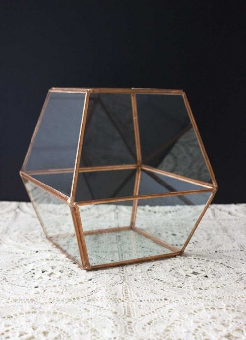Event prop hire copper geometric terrarium small_Event_Styling_Sydney