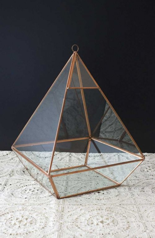 Event prop hire copper geometric terrarium_Event_Styling_Sydney