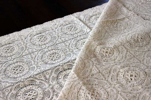 Event prop hire cream lace table cloth