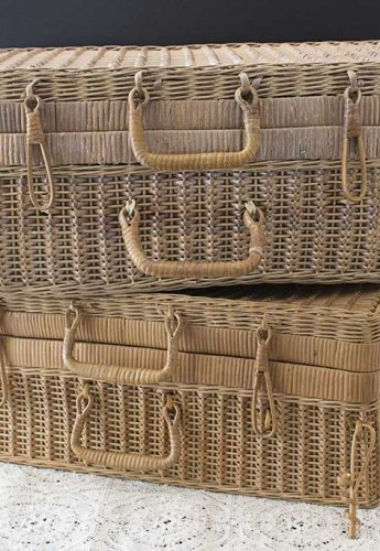 Event prop hire large baskets with lid