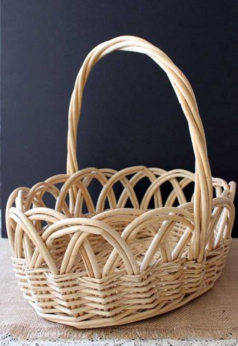 Event prop hire light oval basket