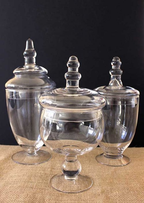 Event prop hire lolly apothecary jar set