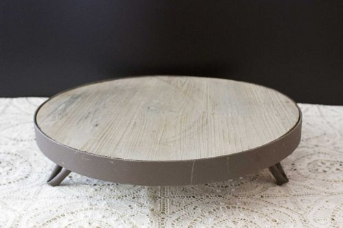 Event prop hire rustic timber wine barrel top cake stand_Event_Styling_Sydney