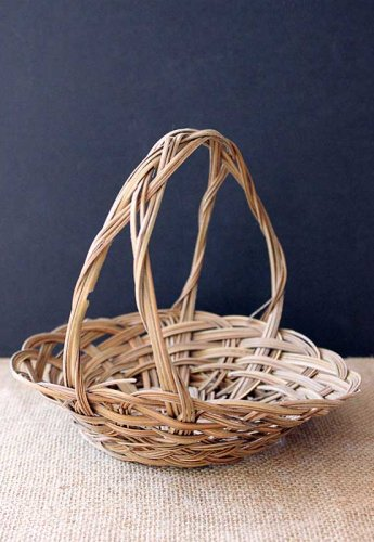 Event prop hire small basket with handle