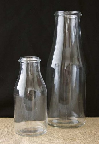 Sydney Event prop hire glass milk bottle vases