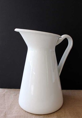 Sydney Event prop hire white enamel milk jug