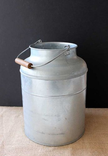 Sydney Event prop hire wide metal milk pail