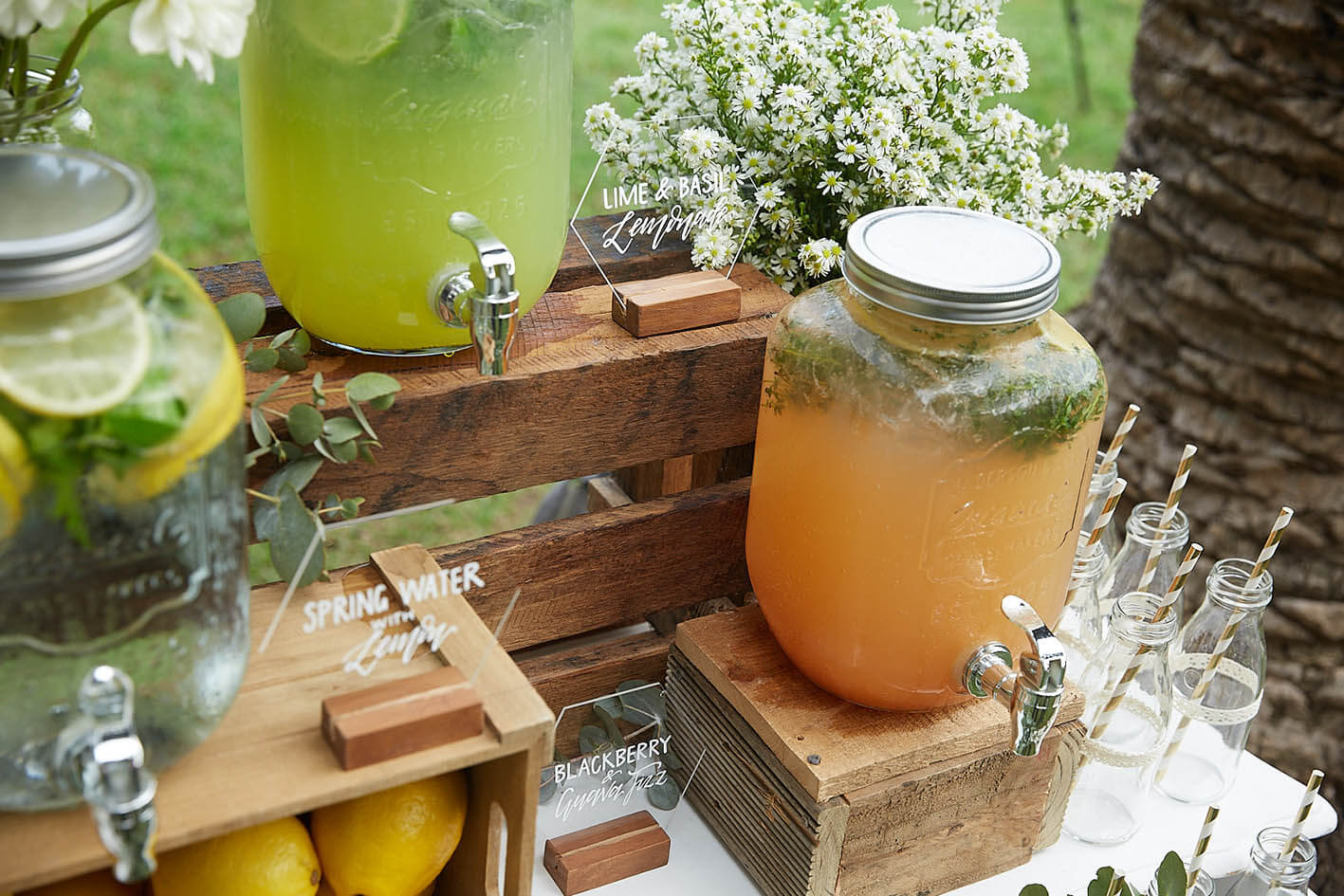Wedding Styling - Drink Stations