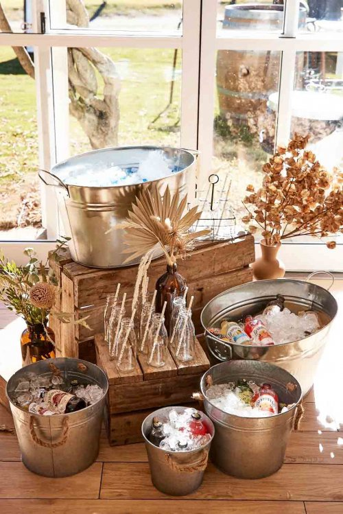 Sugar Blossom Events_Event Hire Hunter Valley_Metal Ice Buckets