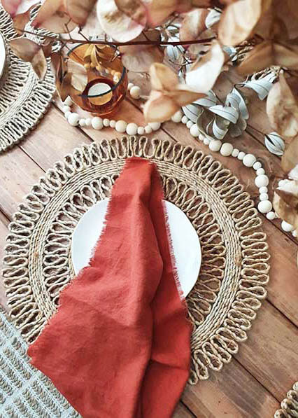 Hunter Valley event hire_Sugar Blossom Events_Jute placemats