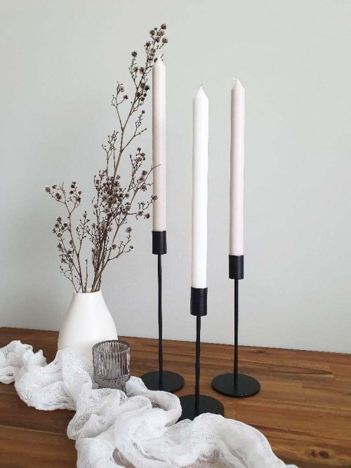 Sugar Blossom Events_Hunter Valley Wedding hire_Black Candle holders 01