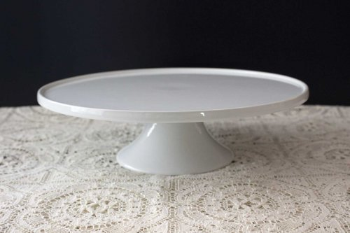Event prop hire 30cm white ceramic cake stand_Event_Styling_Sydney