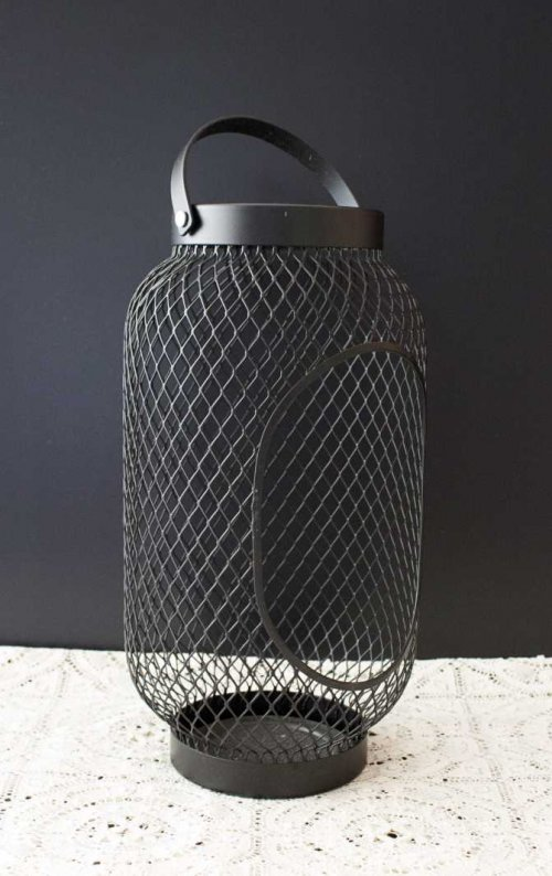Event prop hire black mesh lantern_Event_Styling_Sydney