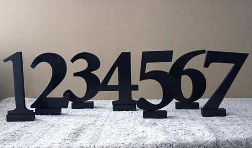 Event prop hire black table numbers