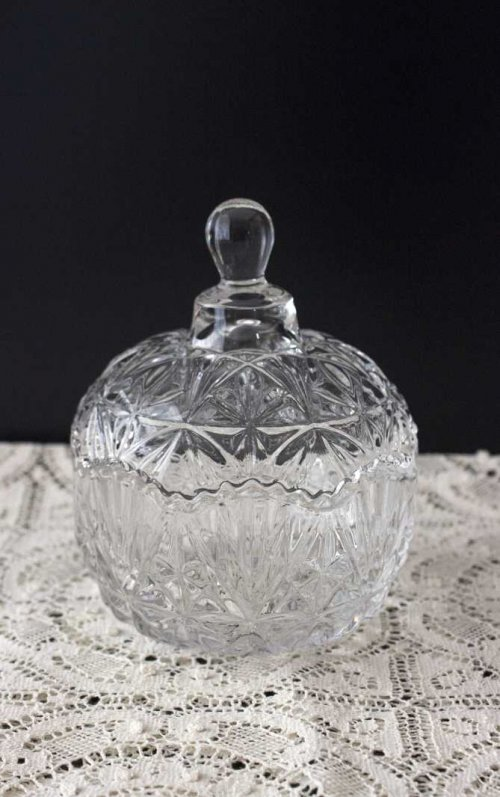 Event prop hire cut glass bowl with lid_Event_Styling_Sydney