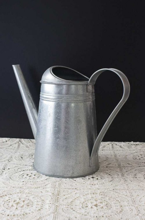 Event prop hire rustic metal watering can_Event_Styling_Sydney