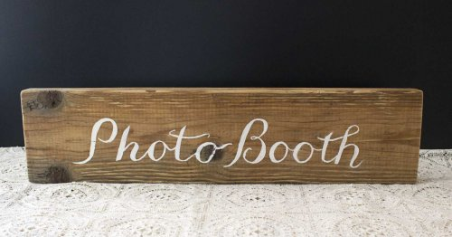 Event prop hire rustic timber photo booth sign_Event_Styling_Sydney