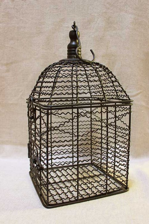 Event prop hire square black birdcage