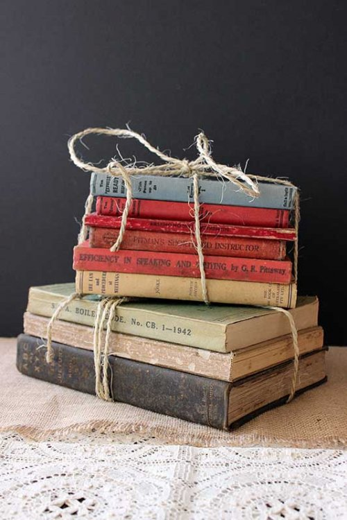 Event prop hire vintage books