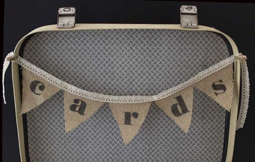 Event prop hire wishing well hessian bunting