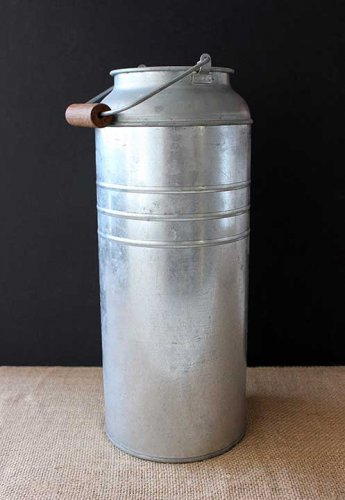Sydney Event prop hire tall metal milk pail