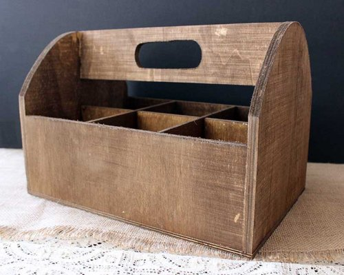Sydney event hire wooden bottle caddy