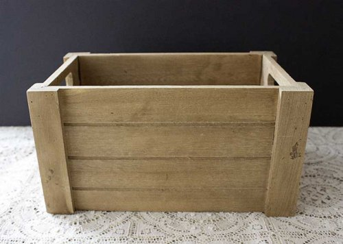 Sydney event hire wooden light timber crate