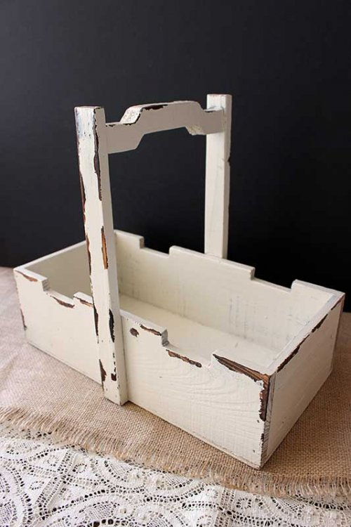 Sydney event hire wooden shabby chic bottle caddy