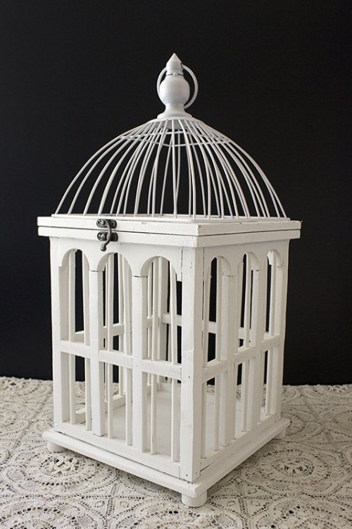 White timber birdcage_small and large
