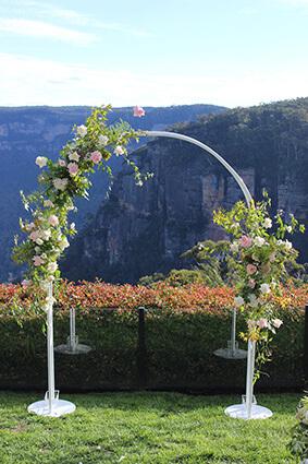 White Bridal Arch