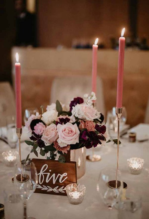 Rose Gold Candlesticks